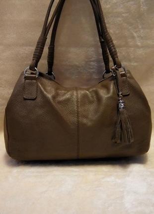 Кожаная брендовая сумка