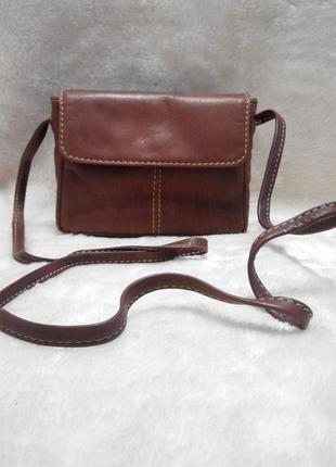 Маленькая наплечная кожаная сумка nova