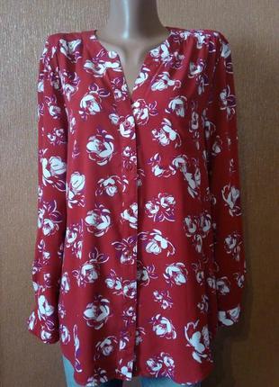 Блузка рубашка в цветочный принт peacocks