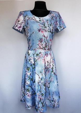 Суперцена. стильное платье, принт. турция. новое, р. 44-46