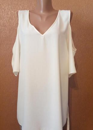 Блузка с открытыми плечами,пояс george размер 20