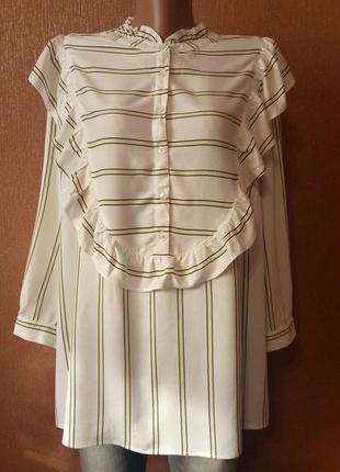 Блузка в полоску с воланами tu размер 18