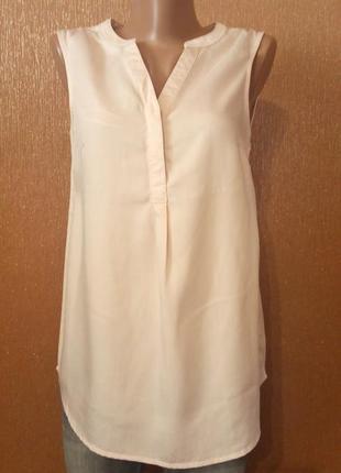 Блузка летняя цвет пудры размер 6 f&f