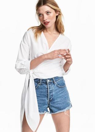 Блузка на запах h&m размер 10