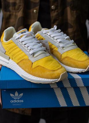 Шикарные кроссовки adidas zx 500 blood gold