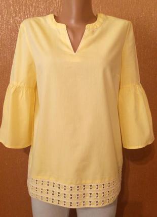 Блузка летняя волан на рукаве размер 8 next