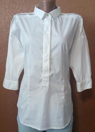 Блузка белая,летняя размер 10 zara