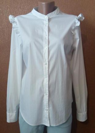 Рубашка с рюшей на плече размер 12 george