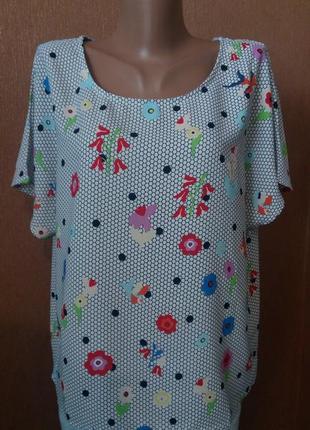 Блузка летняя свободная размер 12-14 sweet miss