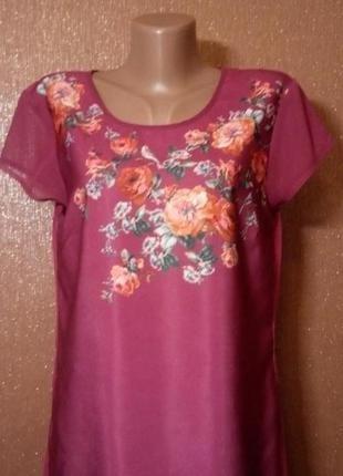 Блузка  в цветочный принт размер 10-12 oasis