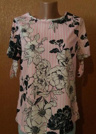 Лёгкая блузка в цветочный принт размер 10 peacocks