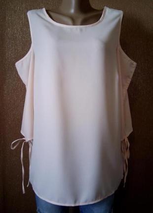 Блузка с открытыми плечами и завязки на рукавах  14-16 pep&co