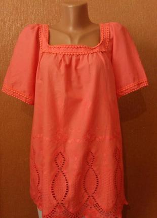 Летняя блузка с вышивкой прошва размер 16-18 george