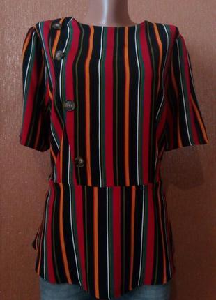 Красивая блузка в полоску размер 14-16 papaya
