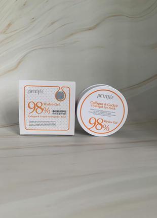 Гидрогелевые патчи для глаз petitfee 98% collagen & coq10 hydro