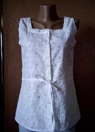 Блузка с вышивкой ришелье прошва размер 10
