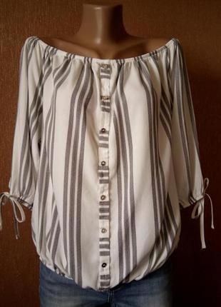Блузка под резинку с открытыми плечами размер 14  george