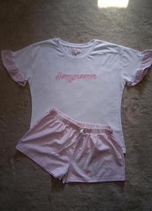 Пижама для дома и сна футболка+шорты размер 12-14
