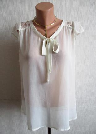 Шифоновая блуза с гипюром atmosphere