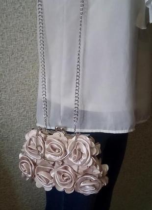 Миниатюрная пудровая сумочка клатч