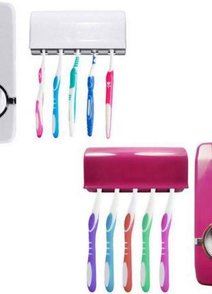 Диспенсер для зубной пасты с держателем зубных щеток STENSON