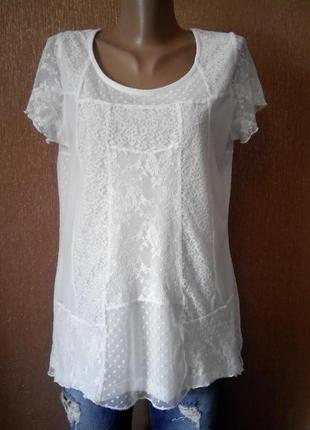 Блузка кружевная размер 10-12