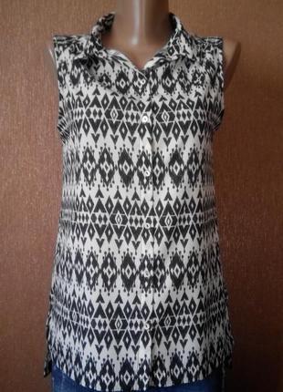 Рубашка орнамент принт размер 6-8 bella ragazza
