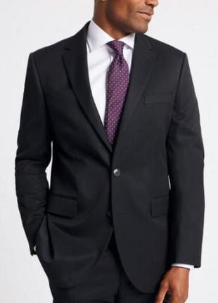 Классический мужской черный пиджак marks & spencer