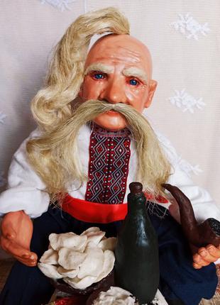 Козак з варениками - кукла сувенирная