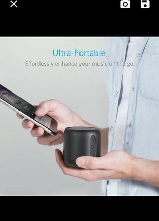 """Портативна колонка """"Anker SounCore"""" mini  Bass Super Bluetooth"""