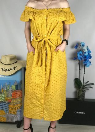 Натуральное платье с шитьем большого размера