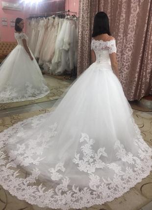 """Свадебное шикарное платье со шлейфом """"Натали"""""""