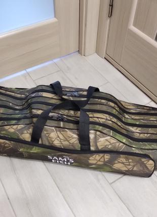 Чехол сумка для удочек удилищ 90 см 3-х секционный