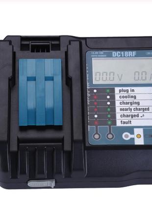 Зарядное для Makita DC18Rf c LCD и USB (3.5А)