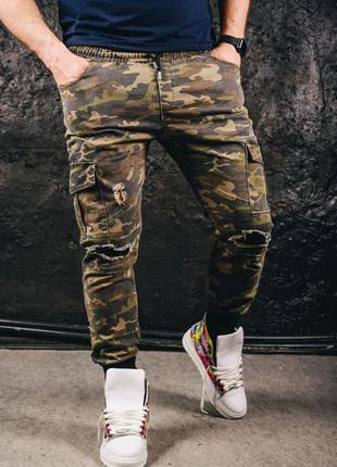 Хит сезона мужские камуфляжные штаны
