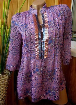 Шифоновая блуза-туника dominka, польша