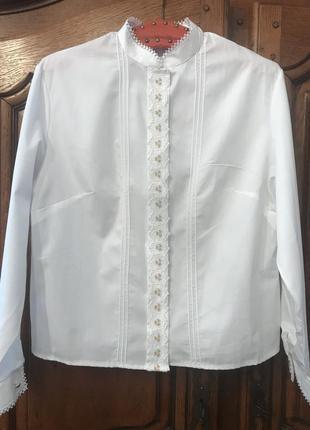 Блузка, рубашка, стойка воротник,укорочённая