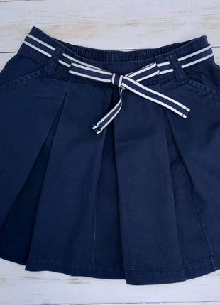 Школьная темно синяя юбка для девочки