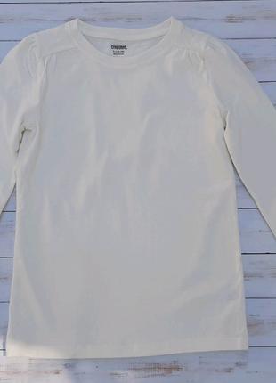 Белая базовая кофта для девочки