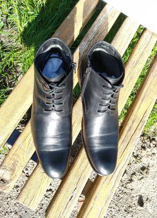 ботинки кожаные Braska шкіряні черевики