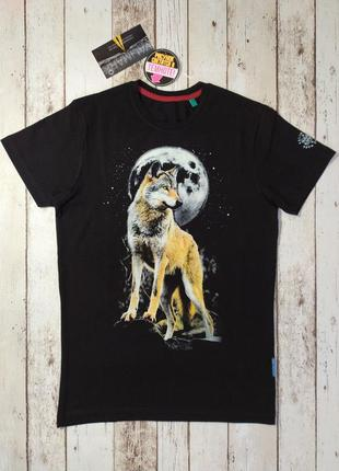 Футболка мужская волк (рисунок светится в темноте)