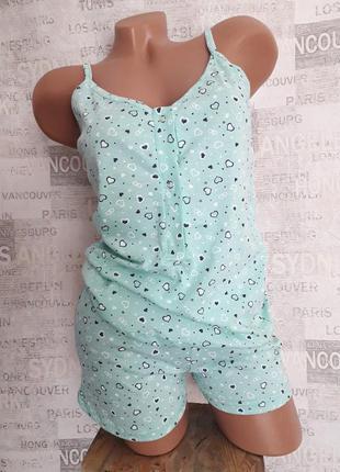 Комплект майка шорты пижама для кормления кормящих беременных 46