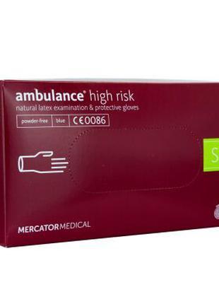 Перчатки синие Ambulance High Risk размера (S, M, L, XL)
