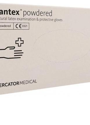Перчатки медицинские Mercator Santex Powdered латексны