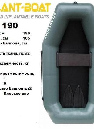 надувная гребная лодка А-190