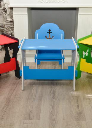 """Детский столик и стульчик """"Конструктор"""""""