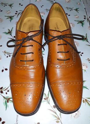 🎁1+1=3 шикарные кожаные мужские туфли броды samuel windsor нат...