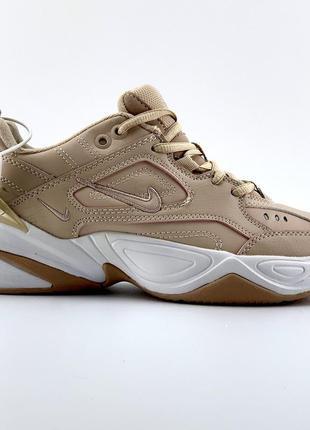 Стильные бежевые кроссовки