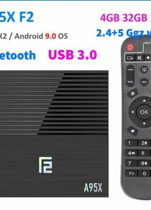 Новый хит смарт приставок A95X F2 4/32 Gb Android Tv Box