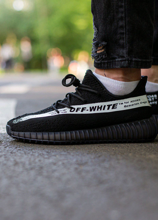 Кроссовки Adidas Yeezy Boost 350 V2 x Off White  Black\White